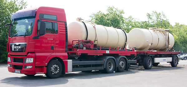 Tankwagen für Nassmüllanlage