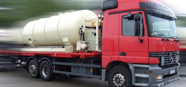 Tankwagen zur Entsorgung von Nassmüll